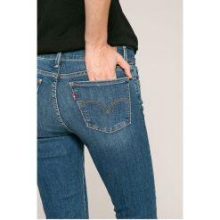 Levi's - Jeansy 710. Brązowe jeansy damskie rurki marki Levi's®, z bawełny. W wyprzedaży za 259,90 zł.