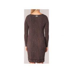 Sukienki krótkie MICHAEL Michael Kors  CHEETAH LS BORDER DRS. Brązowe sukienki mini marki MICHAEL Michael Kors, l, z krótkim rękawem. Za 791,20 zł.