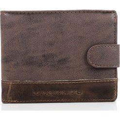 Portfele męskie: Brązowy mocny portfel męski HAROLD'S DUKE