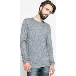 Tom Tailor Denim - Sweter. Szare swetry klasyczne męskie marki TOM TAILOR DENIM, l, z bawełny, z okrągłym kołnierzem. W wyprzedaży za 79,90 zł.