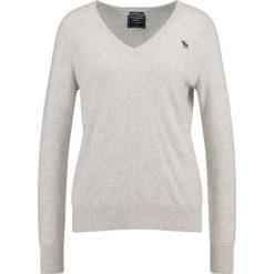 Swetry klasyczne damskie: Abercrombie & Fitch CASHMERE VNECK  Sweter grey
