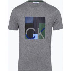 Calvin Klein - T-shirt męski, szary. Pomarańczowe t-shirty męskie marki Calvin Klein, l, z bawełny, z okrągłym kołnierzem. Za 229,95 zł.