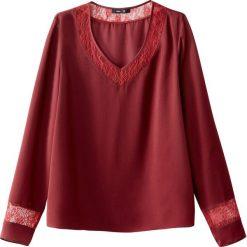 Bluzki asymetryczne: Bluzka prosta, detal z koronki