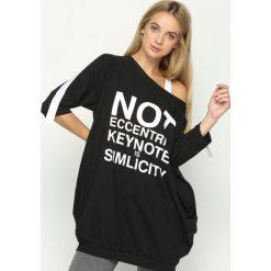 Bluzy damskie: Czarna Bluza Not Eccentric