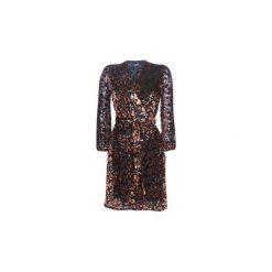Sukienki krótkie Kookaï  JEROUVA. Czarne sukienki hiszpanki Kookai, z krótkim rękawem, mini. Za 619,00 zł.