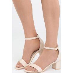 Rzymianki damskie: Beżowe Sandały Bright Star