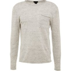 Club Monaco ROLL NECK Sweter light grey heather. Szare swetry klasyczne męskie Club Monaco, l, ze lnu. Za 549,00 zł.