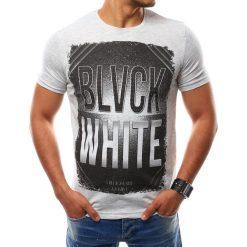 T-shirty męskie z nadrukiem: T-shirt męski z nadrukiem szary (rx2530)