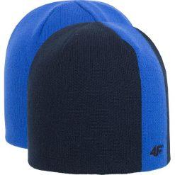Czapka męska CAM255Z - niebieski - 4F. Niebieskie czapki zimowe męskie 4f, na jesień, z materiału. Za 29,99 zł.