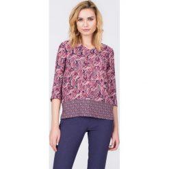 Bluzki damskie: Bluzka z orientalnym nadrukiem z rękawem 3/4 QUIOSQUE