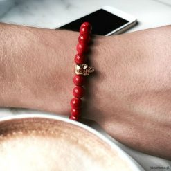 Biżuteria i zegarki: Bransoletka męska Red Skull