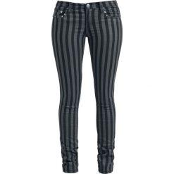 Spodnie damskie: Rock Rebel by EMP Stripes (Slim Fit) Spodnie damskie czarny/szary