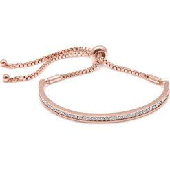 Bransoletki damskie na nogę: Bransoletka w kolorze różowego złota z kryształkami Swarovski