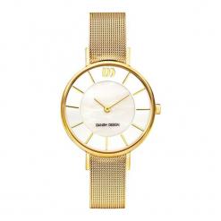 """Zegarek """"3320218"""" w kolorze złoto-białym. Żółte, analogowe zegarki damskie NIXON & ESPRIT, ze stali. W wyprzedaży za 359,95 zł."""