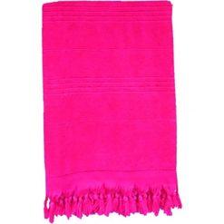 Chusta hammam w kolorze różowym - 200 x 140 cm. Czerwone chusty damskie Le Comptoir de la Plage, z bawełny. W wyprzedaży za 85,95 zł.