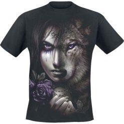 T-shirty męskie z nadrukiem: Spiral Wolf Soul T-Shirt czarny