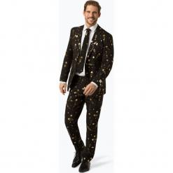 OppoSuits - Garnitur męski z krawatem – Fancy Fireworks, czarny. Czarne garnitury OppoSuits. Za 379,95 zł.