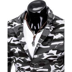 MARYNARKA MĘSKA CASUAL M90 - MORO. Czarne marynarki męskie slim fit Ombre Clothing, moro, z poliesteru. Za 89,00 zł.