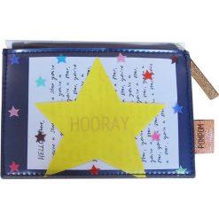 """Portfele damskie: Portfel """"Pompom Tutti Star"""" z kolorowym wzorem – 15 x 11 cm"""