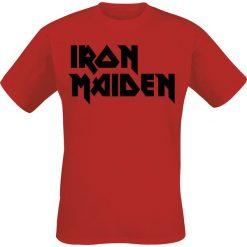 T-shirty męskie: Iron Maiden Classic Logo T-Shirt czerwony