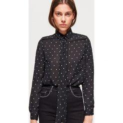 Koszula w kropki z kolekcji EQUAL - Czarny. Czarne koszule damskie marki Cropp, m, w kropki. W wyprzedaży za 39,99 zł.