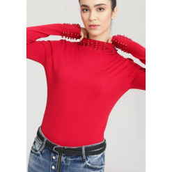 Czerwony Sweter Remember. Czerwone swetry klasyczne damskie other, na jesień, m. Za 59,99 zł.