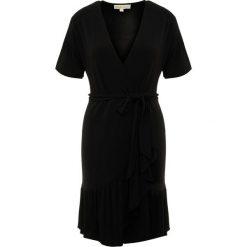 MICHAEL Michael Kors MINI WRAP Sukienka z dżerseju black. Sukienki małe czarne marki MICHAEL Michael Kors, xs, z dżerseju. Za 949,00 zł.