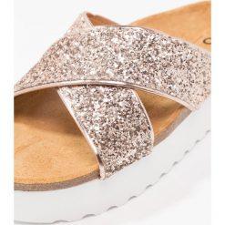 Chodaki damskie: Office WARNER Klapki rose gold glitter