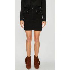 Vero Moda - Spódnica Sina. Niebieskie minispódniczki marki Vero Moda, s, z bawełny, z podwyższonym stanem, dopasowane. Za 149,90 zł.