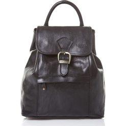 Plecaki damskie: Skórzany plecak w kolorze czarnym - 30 x 37 x 13 cm