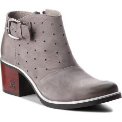 Botki CARINII - B4229/S J51-000-000-861. Szare buty zimowe damskie Carinii, z nubiku, na obcasie. W wyprzedaży za 239,00 zł.