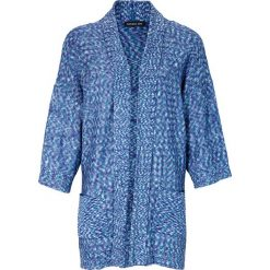 Swetry rozpinane damskie: Sweter rozpinany w kolorze niebieskim