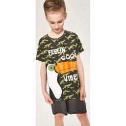 Odzież dziecięca: Dwuczęściowa piżama z szortami – Khaki
