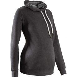 Bluzy damskie: Bluza ciążowa z dużym kołnierzem bonprix antracytowy melanż