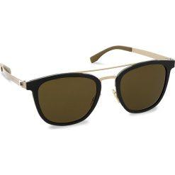 Okulary przeciwsłoneczne BOSS - 0838/S Mtbk/Mtgold 72Y. Czarne okulary przeciwsłoneczne damskie lenonki marki Boss. W wyprzedaży za 679,00 zł.