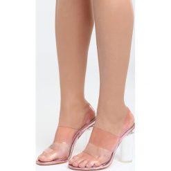 Różowe Sandały Mood For Love. Czerwone sandały damskie na słupku Born2be, z materiału, na wysokim obcasie. Za 89,99 zł.