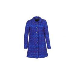 Płaszcze Desigual  HENKEL. Niebieskie płaszcze damskie marki Desigual. Za 879,00 zł.