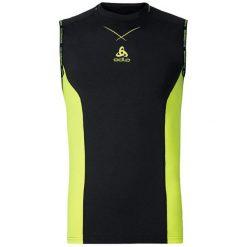Odlo Koszulka Ceramicool pro Singlet crew neck rozmiar L czarno-żółta. Czarne t-shirty męskie marki Odlo, l. Za 149,95 zł.