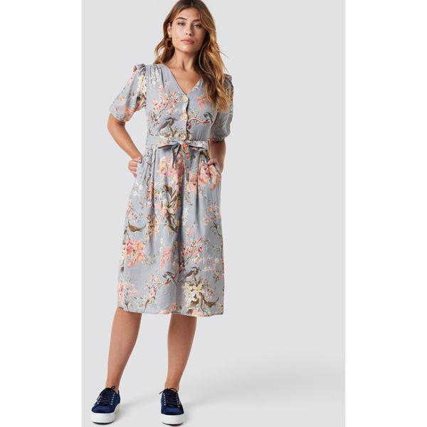 88f559458cdf37 MANGO Sukienka Goldy - Grey - Szare sukienki damskie Mango, w paski ...