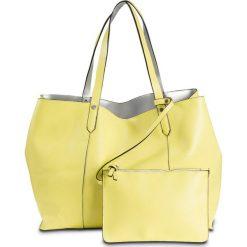 Shopper bag damskie: Torba shopper dwustronna bonprix jasna limonka – srebrny kolor