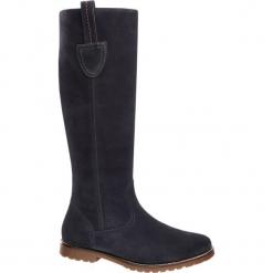 Kozaki damskie 5th Avenue granatowe. Niebieskie buty zimowe damskie marki 5th Avenue, z materiału, na obcasie. Za 299,90 zł.