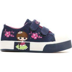 Buty sportowe dziewczęce: Granatowe Trampki Flowery Princess