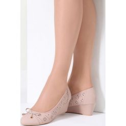 Buty ślubne damskie: Różowe Koturny Sweatheart