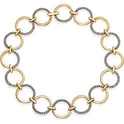 Bransoletki damskie na nogę: Wspaniała Złota Bransoletka - złoto żółte 585, Diament 0,12ct