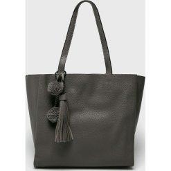 Answear - Torebka. Czarne torebki klasyczne damskie ANSWEAR, z materiału, duże. W wyprzedaży za 119,90 zł.