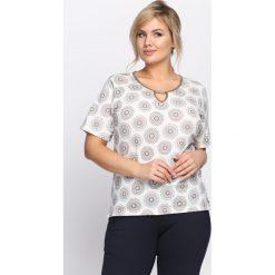 T-shirty damskie: Kremowy T-shirt Panoply