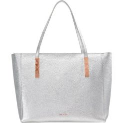 Shopper bag damskie: Ted Baker PAIGIE SOFT GRAIN LARGE ZIP TOTE Torebka silver