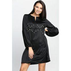 Czarna Sukienka Saving Grace. Czarne sukienki hiszpanki Born2be, na lato, m, mini. Za 59,99 zł.