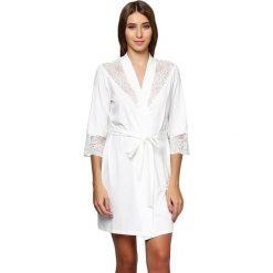 Szlafroki kimona damskie: Szlafrok w kolorze białym
