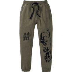 Spodnie dresowe bonprix ciemnooliwkowy. Zielone spodnie dresowe męskie marki QUECHUA, m, z elastanu. Za 59,99 zł.